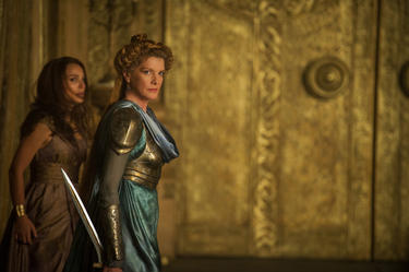 "Natalie Portman as Jane Foster and Rene Russo as Frigga in ""Thor: The Dark World."""