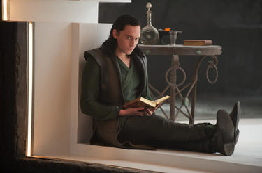 "Tom Hiddleston as Loki in ""Thor: The Dark World."""