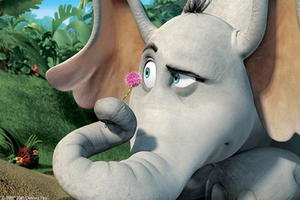 "Horton discovers life on his clover in ""Horton Hears a Who."""