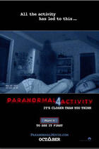 "Poster art for ""Paranormal Activity 4."""