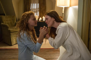 "Chloe Grace Moretz and Julianne Moore in ""Carrie."""