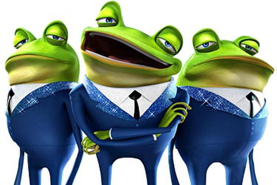 meet the robinsons frog band garden