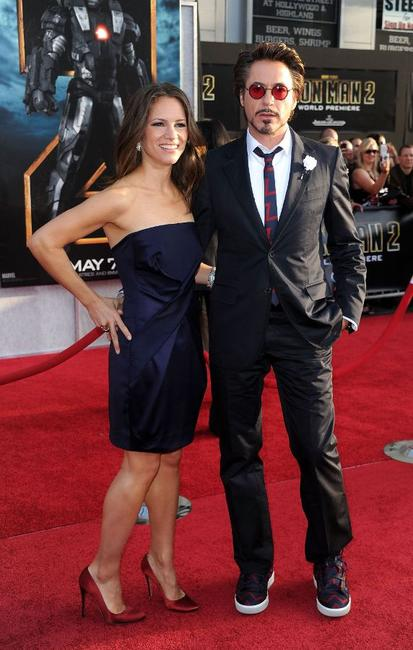Susan Downey and Robert Downey, Jr. at the California premiere of