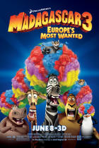 "Poster art for ""Madagascar 3: Europe's Most Wanted."""