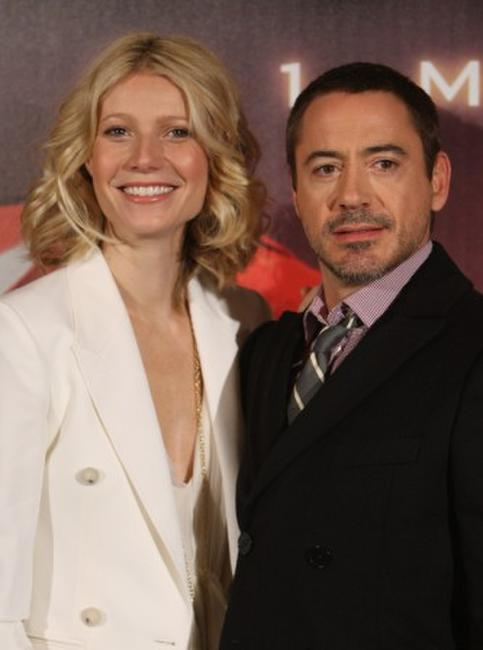 Gwyneth Paltrow and Robert Downey, Jr. at the Berlin photocall of