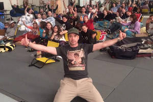 That Time Robert Downey Jr. Spent His Birthday Watching 'Winter Soldier' with a Bunch of Kids