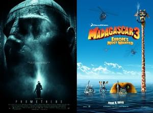 You Rate the New Releases: Give Us Your Thoughts on 'Prometheus' and 'Madagascar 3'