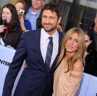 Gerard Butler and Jennifer Aniston at the New York premiere of