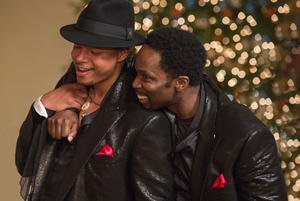 Snapshot: Behind the Scenes of 'Best Man Holiday' Plus Morris Chestnut Image (You're Welcome, Ladies)