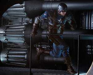 "Chris Evans in ""Captain America: The First Avenger."""