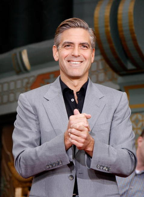 Clooney at the Hand and Footprints Ceremony at Grauman's Chinese Theatre in Hollywood.