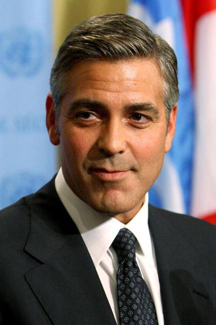 George Clooney at a N.Y. news conference after addressing the United Nations Security Council on Dafur.