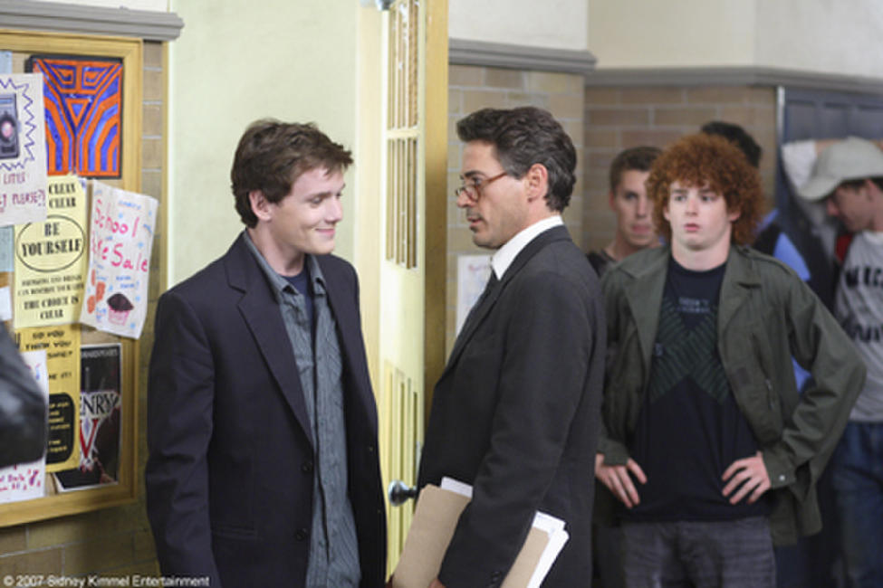 Anton Yelchin and Robert Downey Jr. in