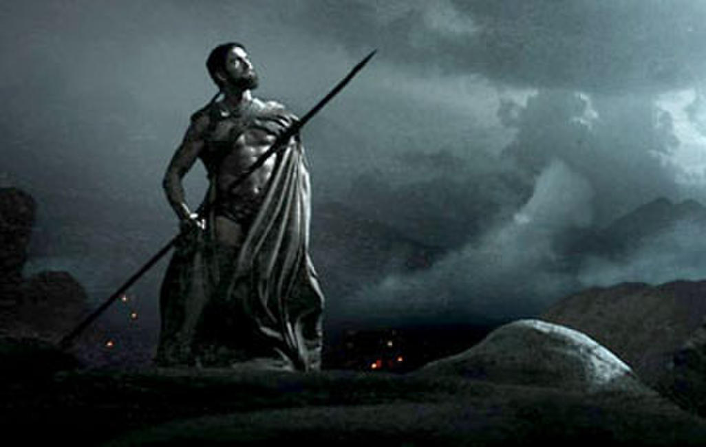 Leonidas (Gerard Butler) climbs to the Ephor's Temple in