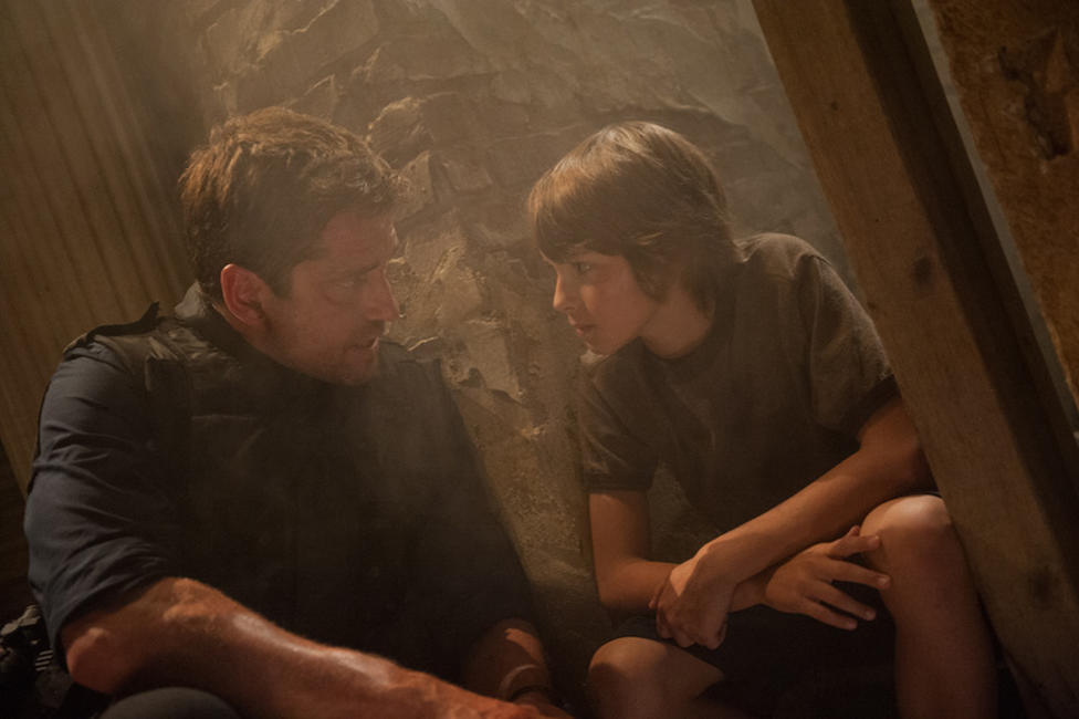Gerard Butler and Finley Jacobsen in