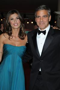 Elisabetta Canalis and George Clooney at the Italy premiere of
