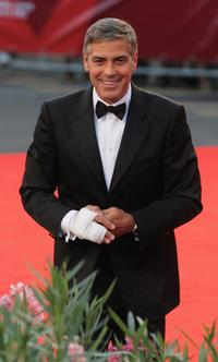 George Clooney at the Italy premiere of