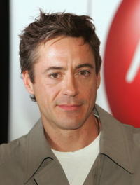 Robert Downey, Jr. at an in-store appearance in L.A. to sign his new CD