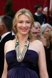 Cate Blanchett at the 80th Annual Academy Awards.