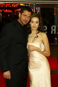Gerard Butler and Emmy Rossum at the World Premiere of