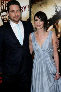 Gerard Butler and Lena Headey at the UK premiere of