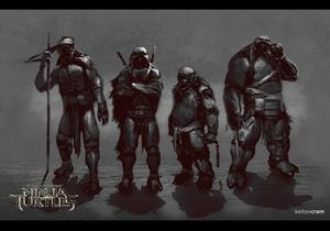See What Shredder and the Ninja Turtles Almost Looked Like in the New Movie