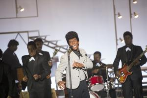 Chadwick Boseman as James Brown in Get On Up