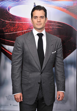 "Henry Cavill at the ""Man Of Steel"" premiere in N.Y."