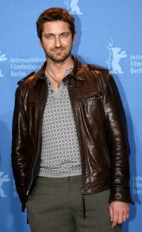 """Gerard Butler at a photocall to promote the movie """"300"""" in Berlin, Germany."""