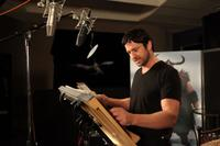 Gerard Butler on the set of