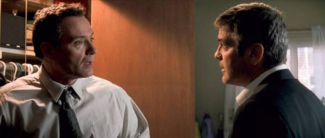 Sean Cullen and George Clooney in