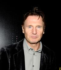 Liam Neeson at the opening of new Armani 5th Avenue store.