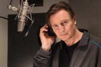 Liam Neeson on the set of