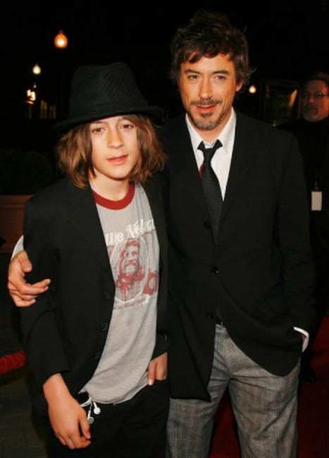 Robert Downey, Jr. and son Indio at the Los Angeles premiere of
