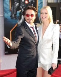 Robert Downey, Jr. and Gwyneth Paltrow at the California premiere of