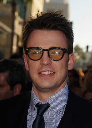 "Chris Evans at the California premiere of ""Captain America: The First Avenger."""