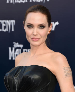 """Angelina Jolie at the World premiere of """"Maleficent."""""""
