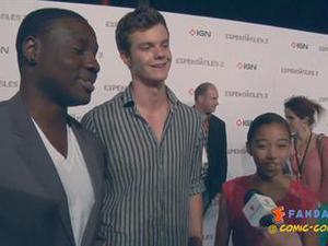 Exclusive: Hunger Games - Dayo Okeniyi, Jack Quaid, Amandla Stenberg SDCC 2012