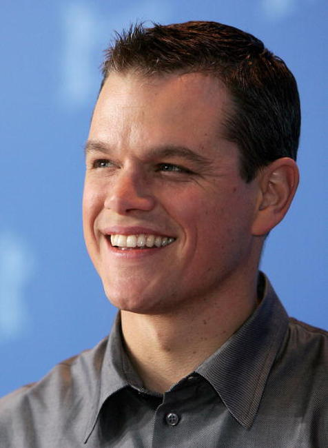 Actor Matt Damon at a photocall in Berlin for