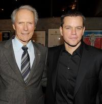 Clint Eastwood and Matt Damon at the California premiere of
