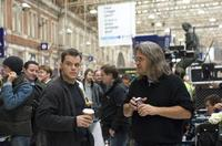 Matt Damon and director Paul Greengrass on the set of
