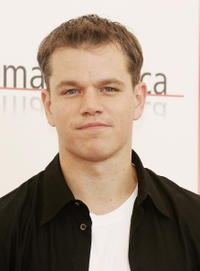 Actor Matt Damon at a photocall in Italy for