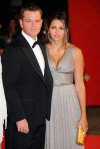 Matt Damon and Luciana Bozan Barroso at the Italy premiere of