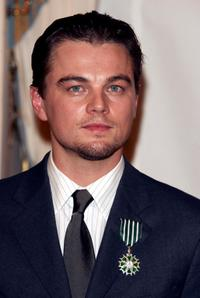 Leonardo DiCaprio at a ceremony at the Ministry of Culture.