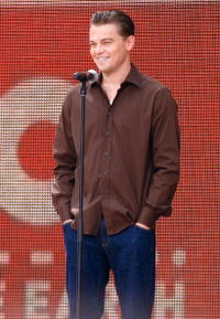 Leonardo DiCaprio at Live Earth New York at Giants Stadium in New Jersey.