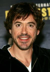 Robert Downey, Jr. at the press conference of