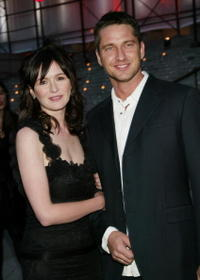 Gerard Butler and Emily Mortimer at a Vanity Fair party in New York City.