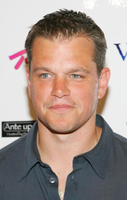 Matt Damon at the celebrity poker tournament during the World Series of Poker.