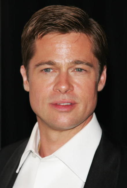 Brad Pitt at a Cannes party to promote