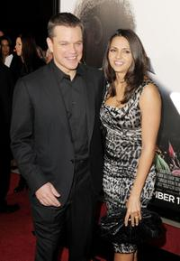 Matt Damon and Luciana Barroso at the California premiere of